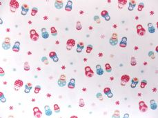 Small Russian doll Print 100% Cotton Fabric